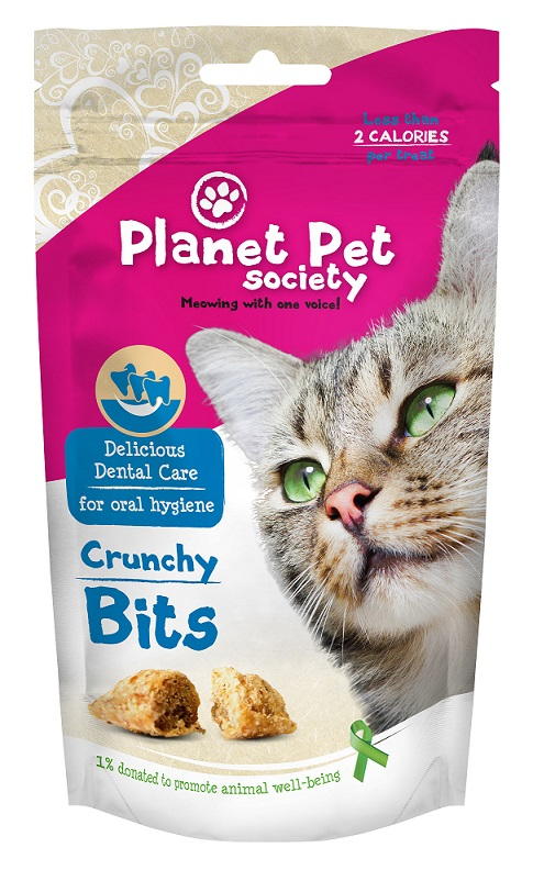 Recompense pentru pisici, Functionale, Dental Care, Planet Pet Society, 40Gr